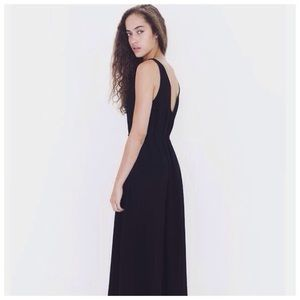 American Apparel Low Back Maxi Dress
